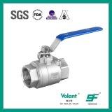 Valvola a sfera igienica dell'estremità della saldatura di elevata purezza dell'acciaio inossidabile