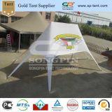 Im Freienbekanntmachendoppeltes Spitzenstern-Zelt mit Digital-Firmenzeichen-Druck