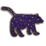 Custom Collar de metal dorado Hoja Pin Glitter Soft enamel insignia de solapa (XD-03096)