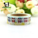 nastro variopinto luminoso della Malesia Washi del documento di mascheramento del reticolo della tazza di caffè 10m per la decorazione