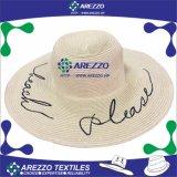 Chapéu de papel da praia da palha das mulheres (AZ016B)
