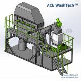 La agricultura de los residuos de fabricación de película de la planta de lavado