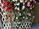 112cm Vermelho Artificial Begônia flores para decoração de Parede