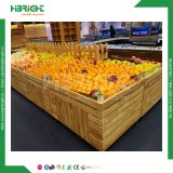 Supermarkt-hölzerne Obst und Gemüse Ausstellungsstand