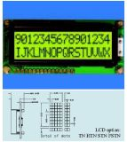 バックライトが付いている黄色緑LCDの表示Stce16205