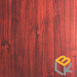 빨간 목제 중국 제조자에서 지면, 문, 가구 및 베니어를 위한 곡물 장식적인 멜라민에 의하여 임신되는 종이