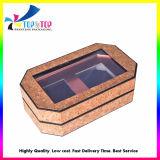 Kosmetik stellt Kasten mit Haustier-Fenster für das Geschenk-Verpacken ein