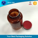 100ml 120ml leeren breite Mund-bernsteinfarbige Pille-medizinische Glasflasche mit Aluminiumschutzkappe und Dichtung