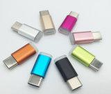 Cabeça perfeita tipo metal-C Macho para Micro-USB do Adaptador Fêmea