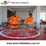 De boze Opblaasbare Kostuums Sumo van Vogels en de Kostuums van de Worstelaar Sumo