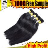 Прямые бразильские человеческие волосы черноты двигателя 8A