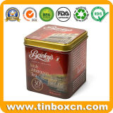 Los estaños cuadrados de encargo del té del metal para el té pueden carrito de té