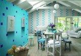 De blauwe Tegel van de Vloer van het Klaslokaal van de Ceramiektegel van 6X6inch/15X15cm Imitatie Houten
