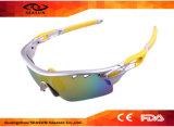 Óculos de sol coloridos polarizados venda por atacado da bicicleta dos esportes ao ar livre dos vidros da equitação da lente dos homens e das mulheres dos óculos de sol