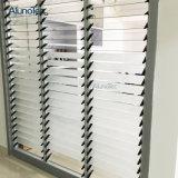 Ventana de cristal de aluminio revestida del obturador de la lumbrera del polvo