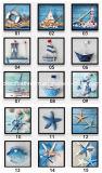 Seestrand-Landschaft-Fotos, die in der Wand für Dekoration hängen