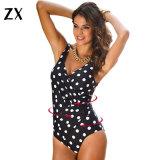 Neue Normallack-einteilige Badeanzug-Frauen plus Größen-Badebekleidung