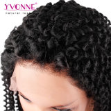 Парик фронта шнурка Afro человеческих волос девственницы чернокожих женщин Kinky курчавый