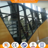 Utilized Glass barrier aluminum of profiles