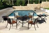 Im Freien/Rattan/Garten/Patio-Hotel-Möbel-Gussaluminium-Stuhl u. Tisch eingestellt (HS 3177C& HS 6115DT&HS 5003RC u. Eiswanne)