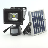 5W Projector movidos a energia solar/ Spotlight, piscina de movimento remoto RF à prova de Luz de Segurança para casa e jardim, relva, Exterior