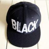 Tampa Vermelha Snapback clássico do visor de tela plana preto Hat com 3D bordados