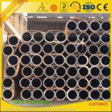 Pipe en aluminium en aluminium de tube d'extrusion anodisée par usine de soufflage de sable