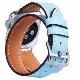 Material de cuero y el tipo de deporte Pulsera de cuero auténtico Reloj inteligente de la banda de reloj para el Iwatch