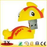 Bastone molle del USB dell'azionamento dell'istantaneo del USB dei pesci del PVC per il regalo