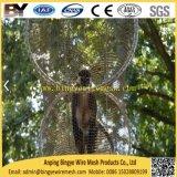O cabo flexível atado do aço inoxidável virola decorativa X-Tende o engranzamento do animal do jardim zoológico do Aviary da corda