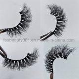 luxuriöse falsche Wimpern Doppelt-Schicht des Nerz-3D natürliche reale Nerz-Pelz-Peitschen für grosse Augen