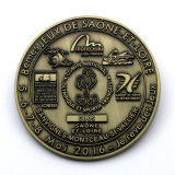La pièce de monnaie commémorative de grande sculpture en couleur de bronze d'antiquité d'enjeu en métal du moulage mécanique sous pression 3D