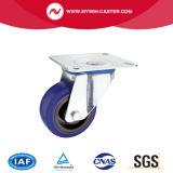 3.5 Zoll-Bremsen-Schwenker-blauer Gummieuropa-Typ industrielle Fußrollen