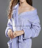 バスローブのフランネルの羊毛の着物カラー浴衣