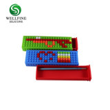 Contenitore di matita reso personale del silicone di disegno dei blocchetti di puzzle di DIY