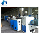 Machine en plastique d'extrusion de pipe de vis jumelle conique en plastique de PVC