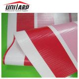 Populäres kaltes lamelliertes leichte Belüftung-Farben-gestreiftes Polyester-Plane-Gewebe