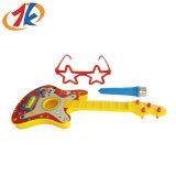 Рекламные Детский пластиковый гитаре с микрофоном и очки игрушка