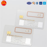 PVC de Plástico Transparente Combo Cartão de negócios com o Chip