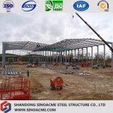 Costruzione pesante della struttura d'acciaio per la pianta industriale con il baldacchino