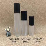 50ml svuotano la bottiglia di plastica rotonda dello spruzzo di profumo dell'animale domestico bianco