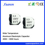 Condensador electrolítico estándar caliente de la venta 3.3UF 100V SMD