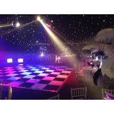 Location en bois de Dance Floor, plancher noir et blanc portatif de danse de mariage