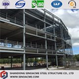 高層鉄骨構造の商業建物