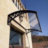 Moderner Wind-beständiges dekoratives Tür-Fenster-Sonnenschutz-Plastikkabinendach