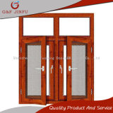Aluminium Profile Wood Looking Casement Windows with Fly Screen