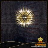 Alumínio da cor do ouro com as lâmpadas do pendente do ferro (AT427P)