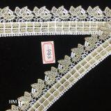 étincelle de lacet de scintillement de fleur blanche de bande de 4.5cm Wedding le panier de couture Hme806 de cadeau de garniture d'album de décoration nuptiale de carte
