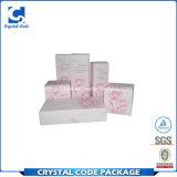 Rectángulo de papel cosmético plegable impreso aduana del cuidado de piel