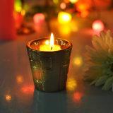 Sostenedor de vela de cerámica de la dimensión de una variable del color popular del oro